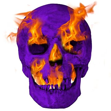 Purple Flaming Skull by nicochristo