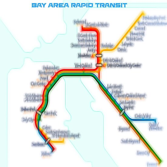 San Francisco BART Map\