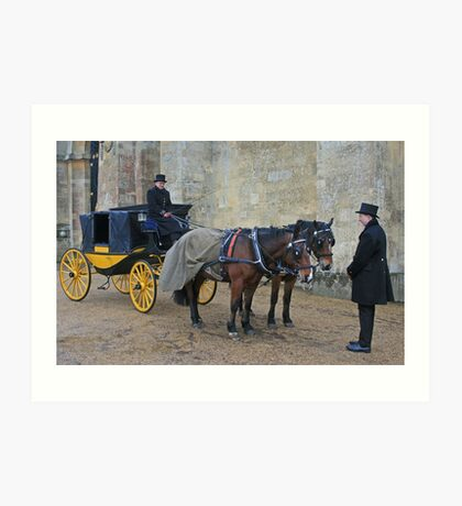 Your Carriage Awaits M'Lady Art Print