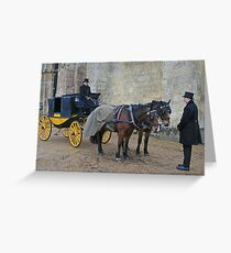 Your Carriage Awaits M'Lady Greeting Card