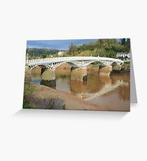 Bridge over the River Wye Greeting Card