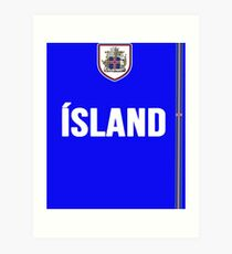 Iceland National Team Jersey Design - Island Team Wear Art Print