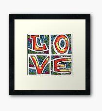 Love Alphabet Framed Print