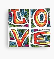 Love Alphabet Canvas Print