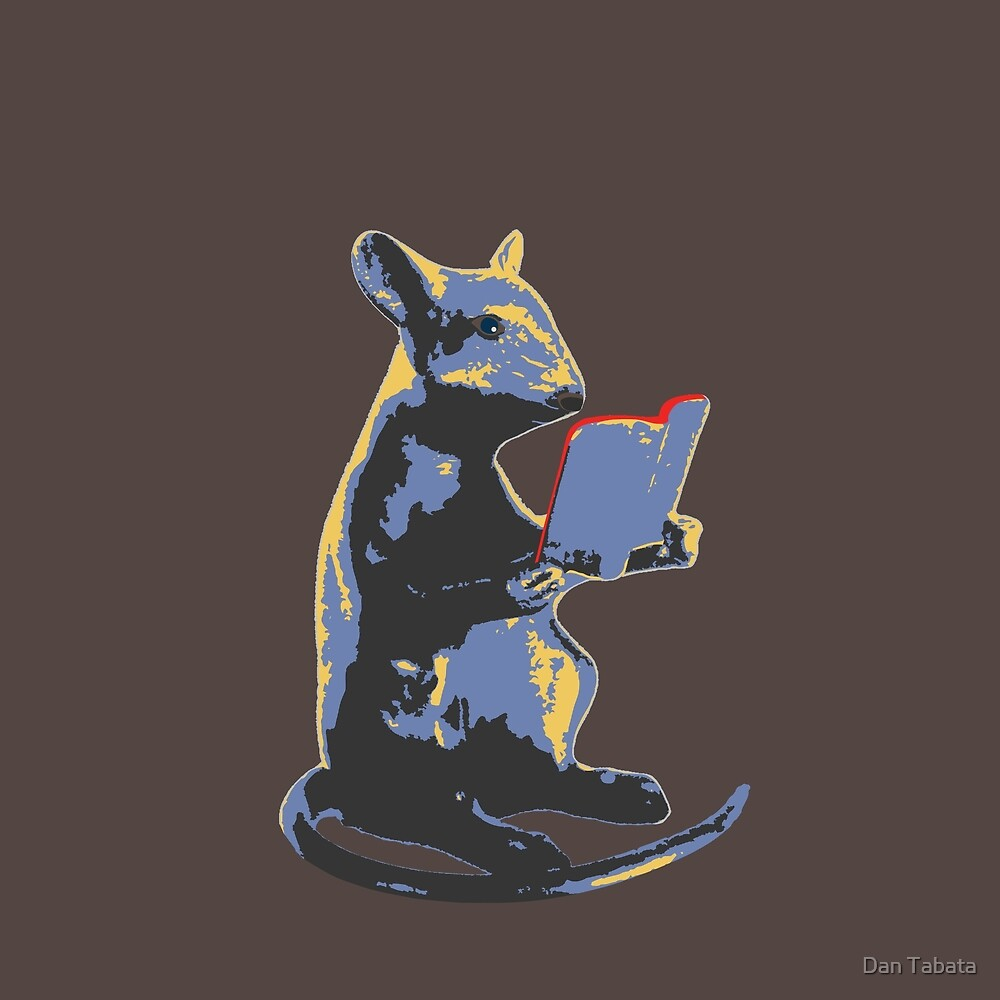 Book Mouse - blue by Dan Tabata