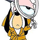 Droopy Dog Classic Cartoon Detektiv von RainbowRetro