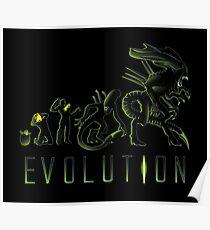 Alien Evolution ( Black Variant) Poster