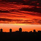Red Sky in the Morning, Ottawa, ON Canada by Shulie1