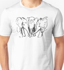 Baby Elephants in Ink Unisex T-Shirt