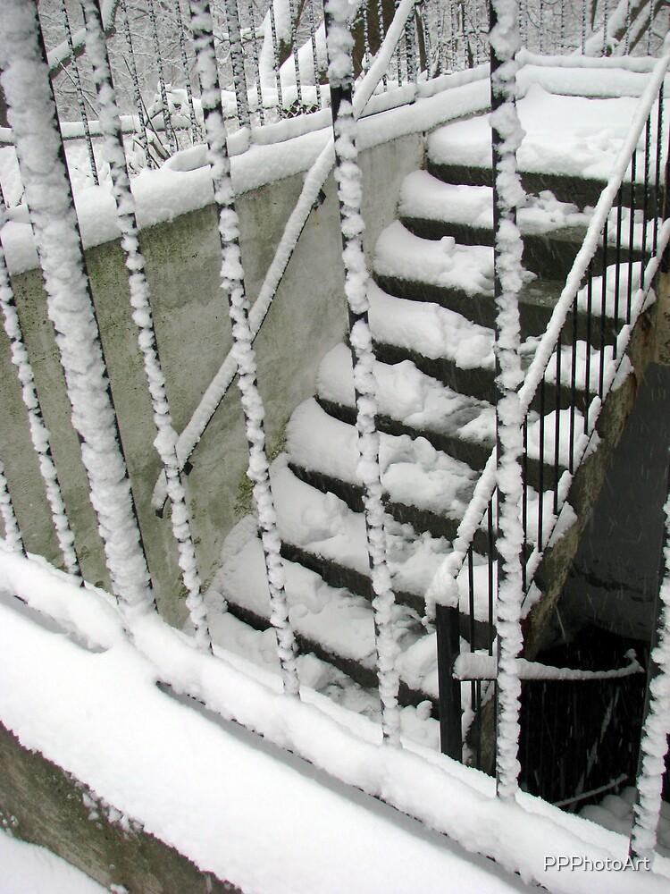 snowy steps by PPPhotoArt