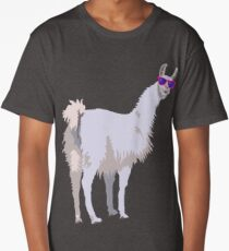 Cool Llama In Sunglasses Long T-Shirt