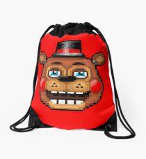 Five Nights at Freddy's 2 - Pixel art - Blue eyes Toy Freddy Drawstring Bag