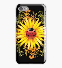 Ladybug Sunflower Paisley Pattern iPhone Case/Skin