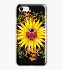 Ladybug Sunflower Paisley Pattern iPhone Case/Skin