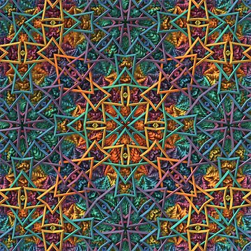 Colorful Geometric Fractal Pattern by lyle58