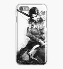 Lara Croft Drawing iPhone Case/Skin