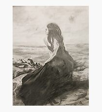 Woman at the Shore Photographic Print