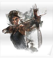 Tomb Raider Painting Poster
