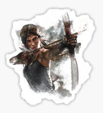 Tomb Raider Painting Sticker