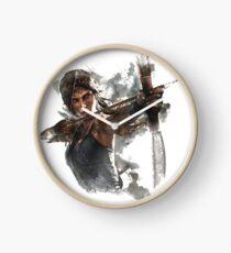 Tomb Raider Painting Clock