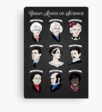 Great Minds of Science - Set Canvas Print