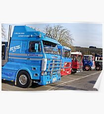 Classic Commercial Lorries at Warminster, Wiltshire, UK Poster