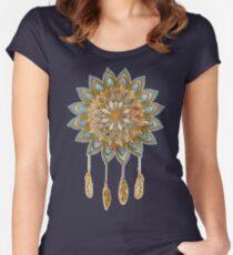 Golden Dreams Dreamcatcher Women's Fitted Scoop T-Shirt