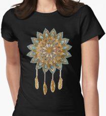 Golden Dreams Dreamcatcher Womens Fitted T-Shirt