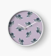 Mod Moths - Navy and Lilac Clock