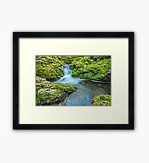 Mossy Moine Falls Framed Print