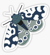 Mod Moths - Navy and Lilac Sticker