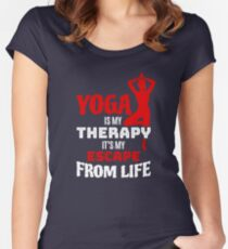 Yoga Is My Therapy Women's Fitted Scoop T-Shirt
