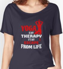 Yoga Is My Therapy Women's Relaxed Fit T-Shirt