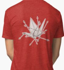 Vectors and Folded Crane Tri-blend T-Shirt