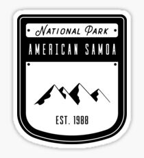 National Park of American Samoa Badge Design Sticker