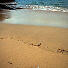 st ives beach scene by nakomis
