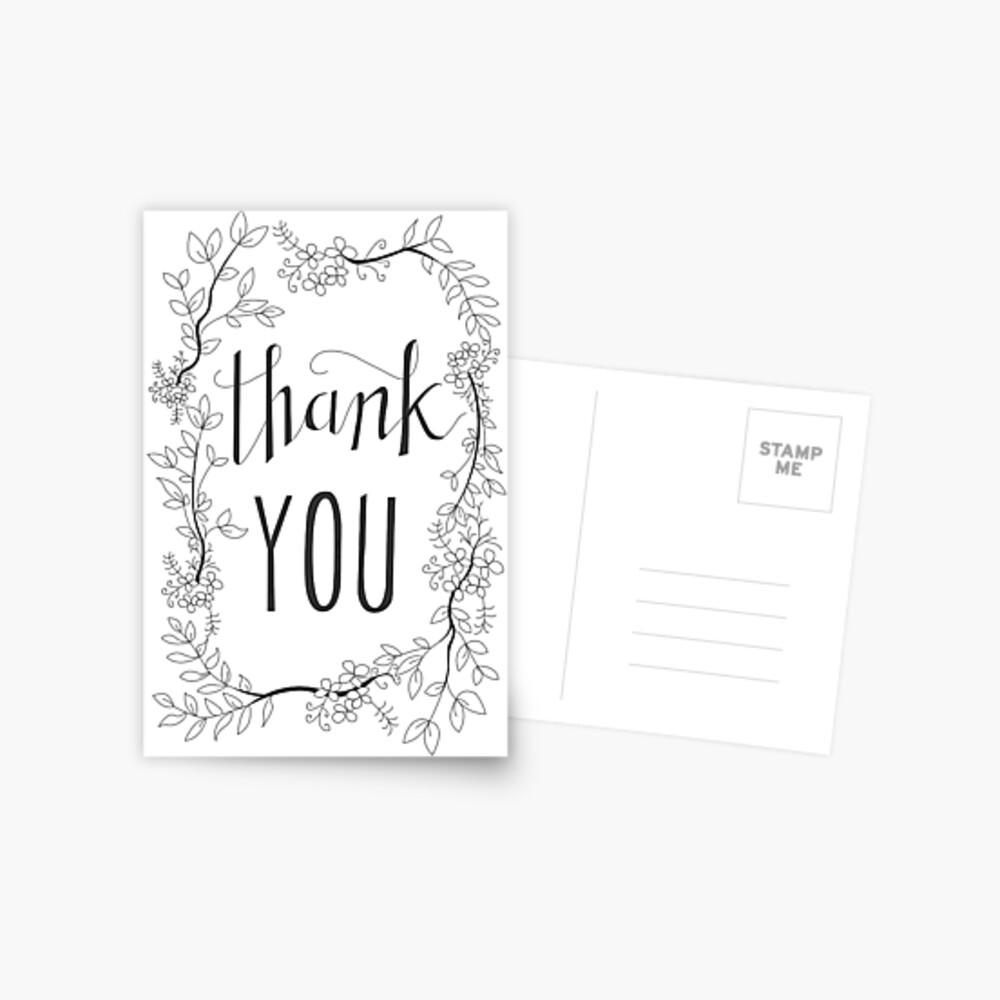 Danke - Blumenkranz Postkarte