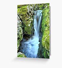 Moine Creek Goes Vertical Greeting Card