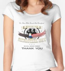 Memorial Day Women's Fitted Scoop T-Shirt