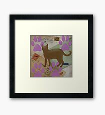 Cat Travels Too Framed Print