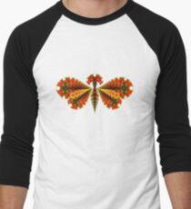 Fractal Butterfly Men's Baseball ¾ T-Shirt