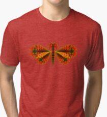 Fractal Butterfly Tri-blend T-Shirt