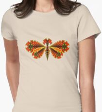 Fractal Butterfly Women's Fitted T-Shirt