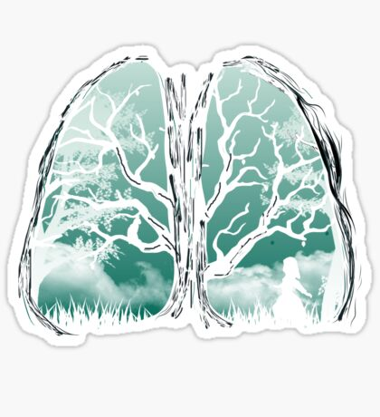 A breath of fresh air Sticker