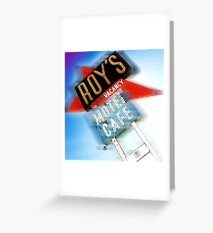 roy's, route 66, california Greeting Card