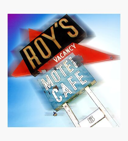 roy's, route 66, california Photographic Print