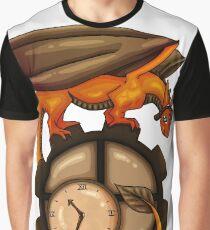 Steampunk Dragon Graphic T-Shirt