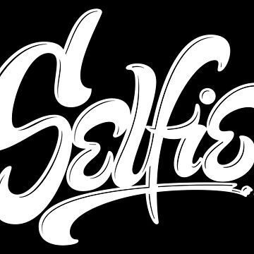 Awesome Skateboard Graffiti Selfie Street Art Lettering - Wicked White on Black by 26-Characters