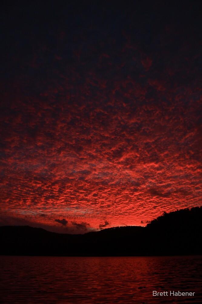 hinze dam sunset by Brett Habener