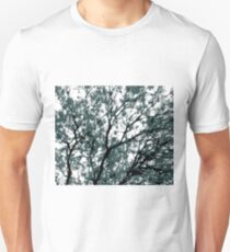 tree branch with green leaves abstract background T-Shirt